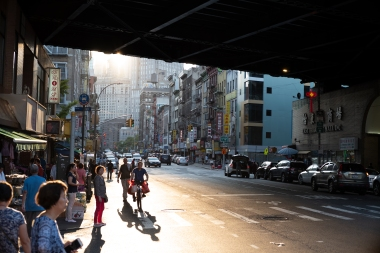Always wanted to shoot this perspective of Chinatown under the Manhattan Bridge